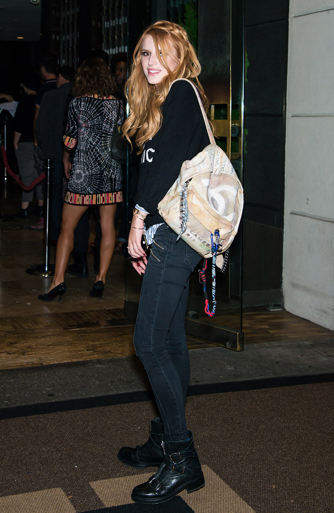 Bella Thorne Chanel Graffiti Backpack 2