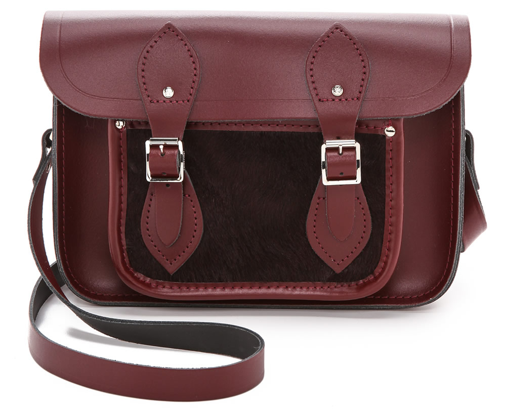 Cambridge Satchel 11 Satchel with Haircalf Pocket