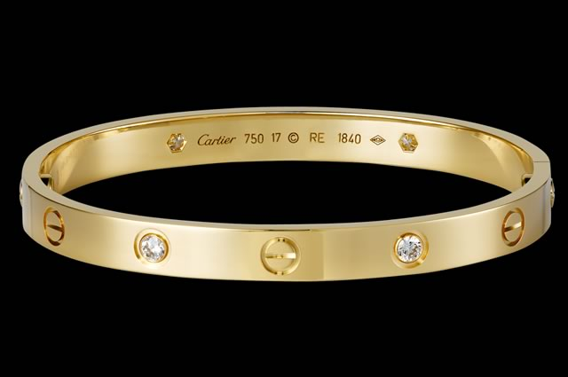 Cartier Yellow Gold and Diamond Love Bracelet