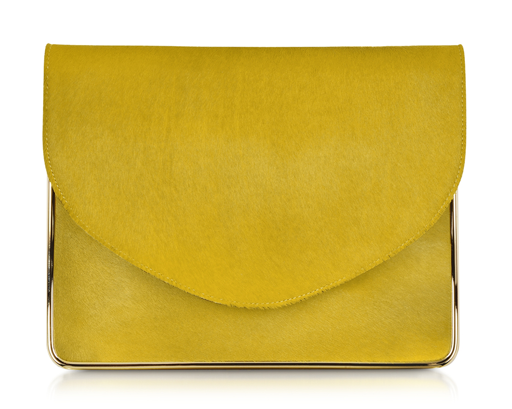 Carven Saint Sulpice Calf Hair Clutch