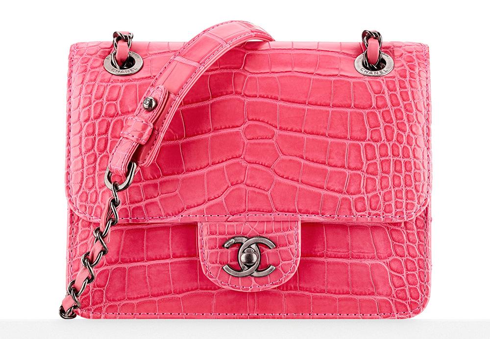 Chanel Alligator and Calfskin Mini Flap Bag