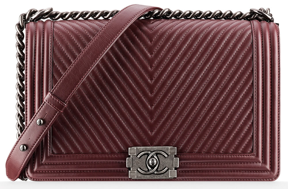 Chanel Boy Bag Burgundy