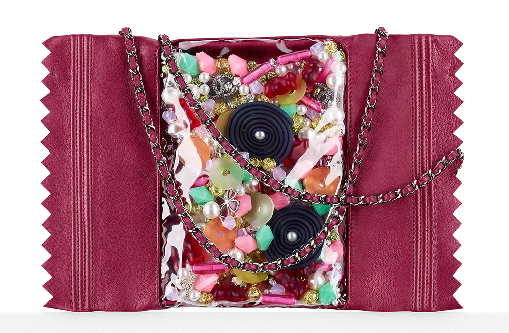Chanel Candy Pack Clutch Purple 8800