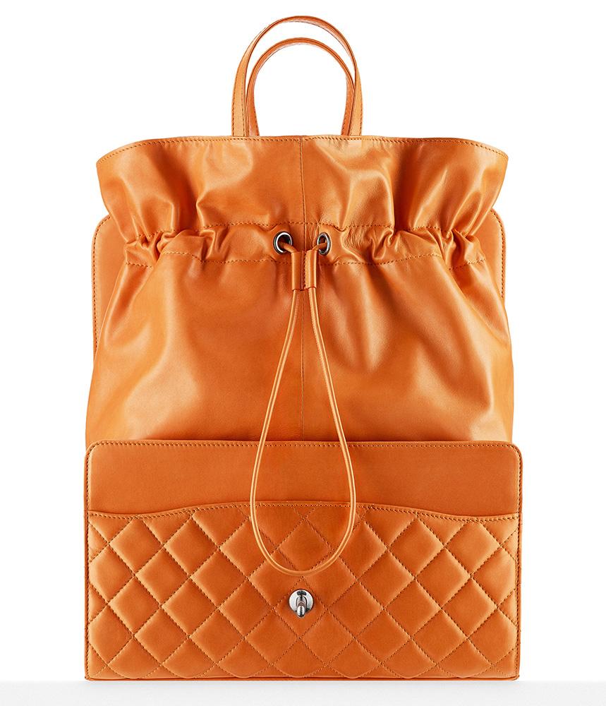 Chanel Drawstring Shopping Bag Orange 6900