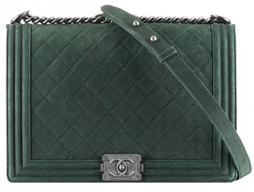 Chanel Green Large Boy Bag