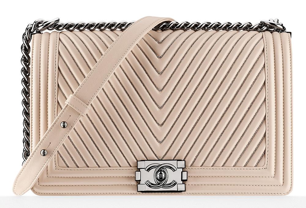 Chanel Large Chevron Boy Bag 7000