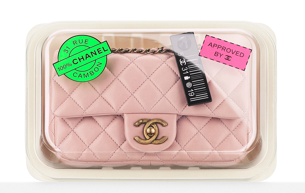 Chanel Meat Packaged Flap Bag Pink 3600