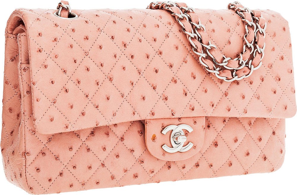 Chanel Ostrich Classic Flap Bag