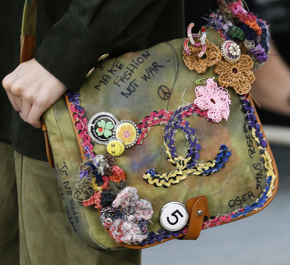 8d3bfabc6d7b Chanel's Spring 2015 Bags are Protest-Inspired Mixed Bag - PurseBlog