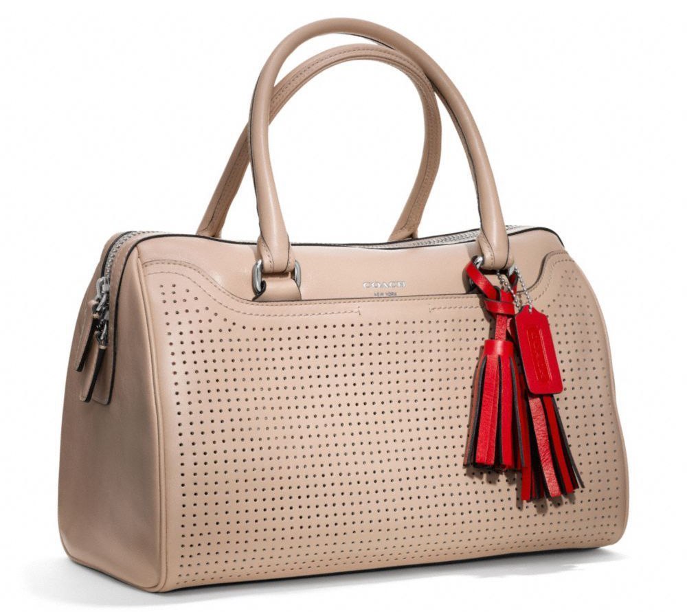 Coach Legacy Haley Perforated Satchel