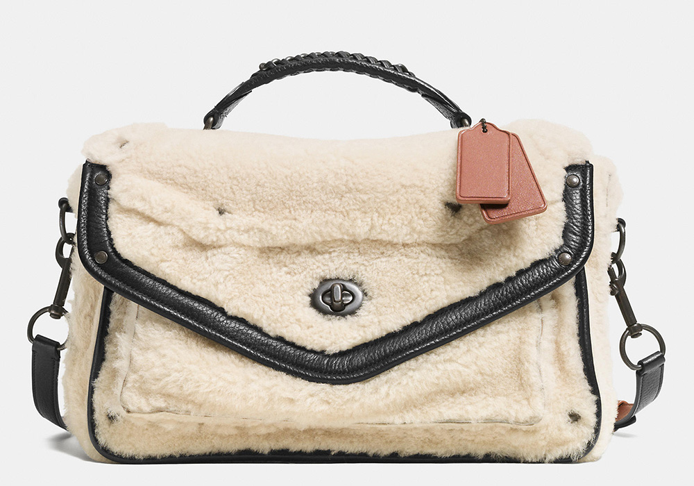 Coach Rhyder Shearling Messenger Bag