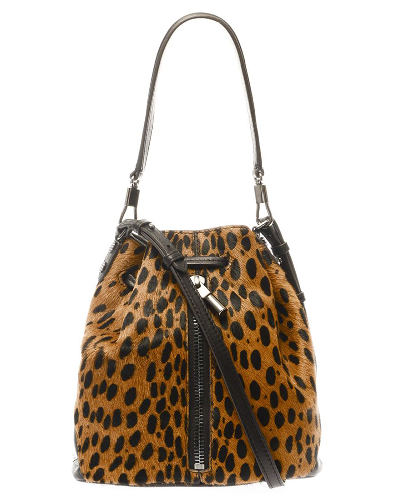Elizabeth & James Cynnie Mini Calf Hair Bucket Bag