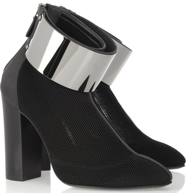 Esteban Cortazar Honeycomb-mesh Cuffed Ankle Boots