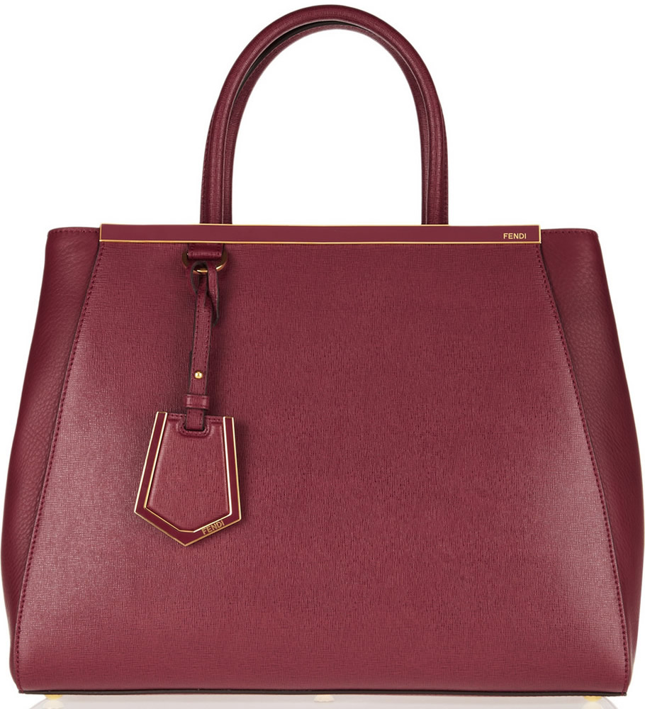 Fendi 2Jours Shopper Burgundy