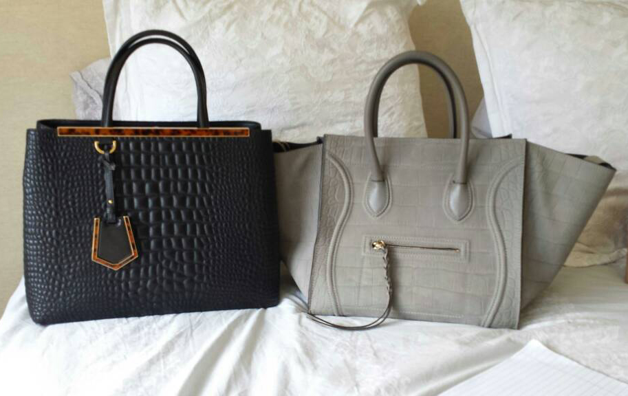 Fendi 2Jours and Celine Phantom Luggage Tote