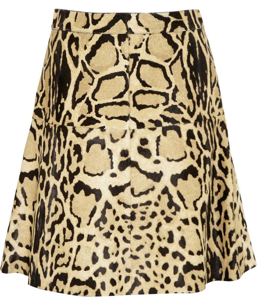 Gucci Leopard Calf Hair Skirt