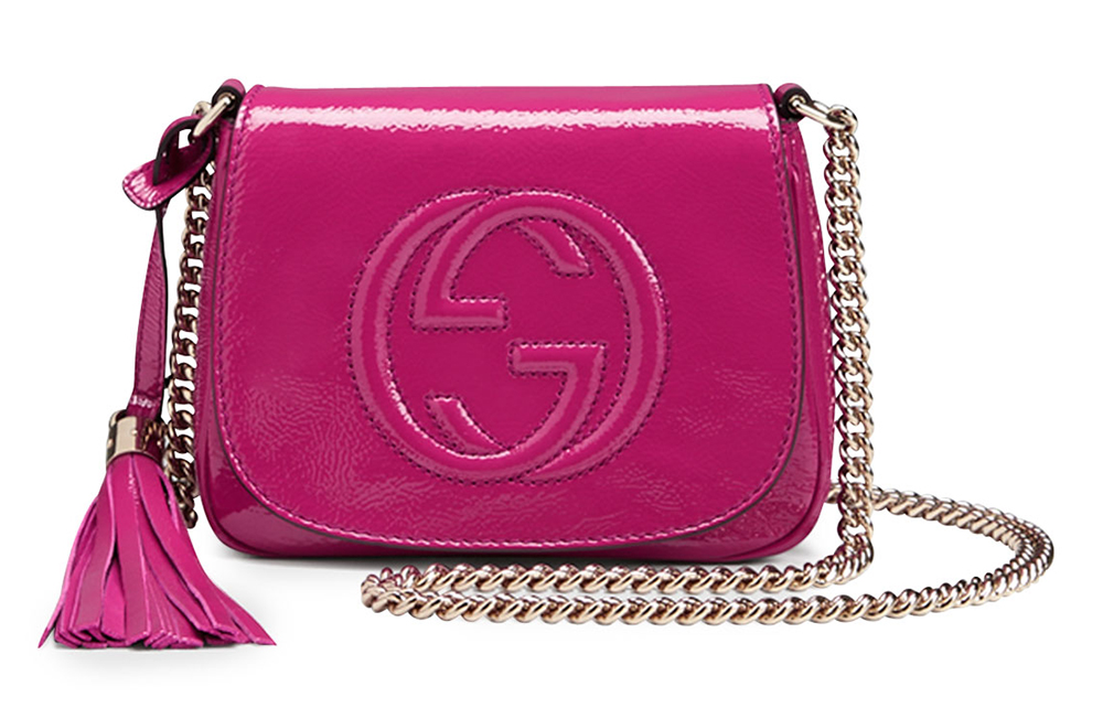 Gucci Soho Patent Chain Shoulder Bag