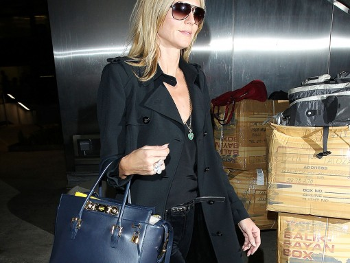 Heidi Klum Chooses Versace for Her Travel Needs