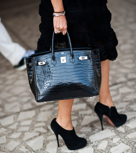 Hermes Black Crocodile Birkin