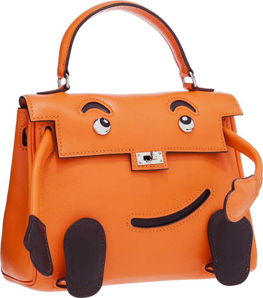 Hermes Limited Edition Orange H Gulliver Leather Quelle Idole Kelly Doll Bag