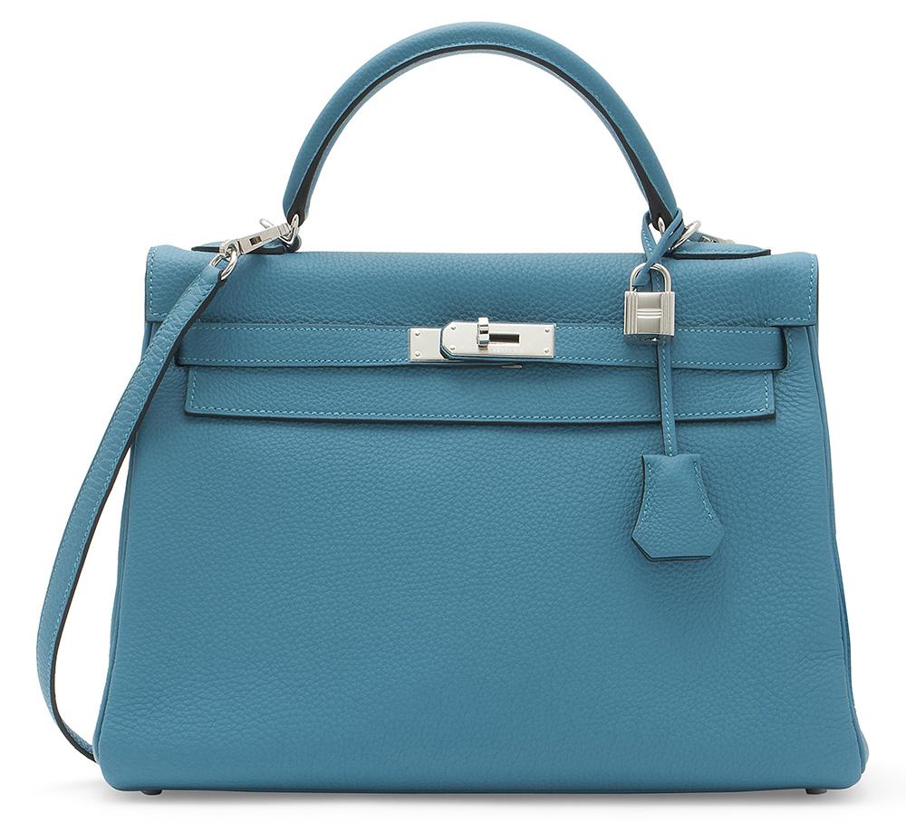 Hermes Togo Turquoise Kelly Bag