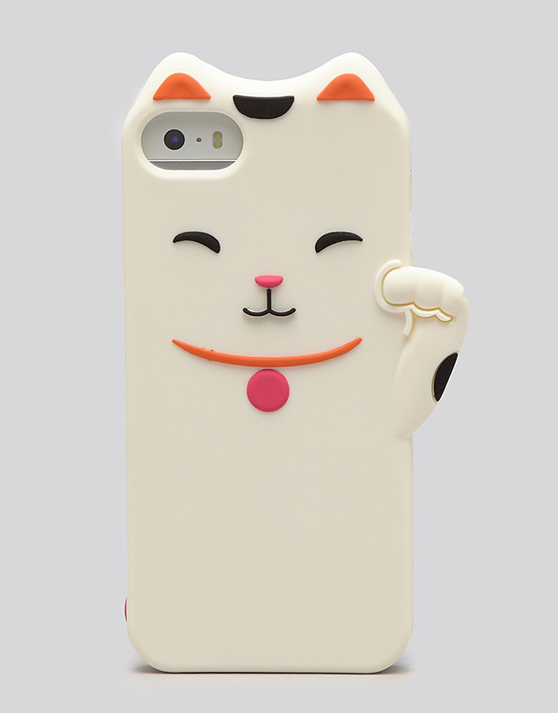 Kate Spade Silicone Cat iPhone Case