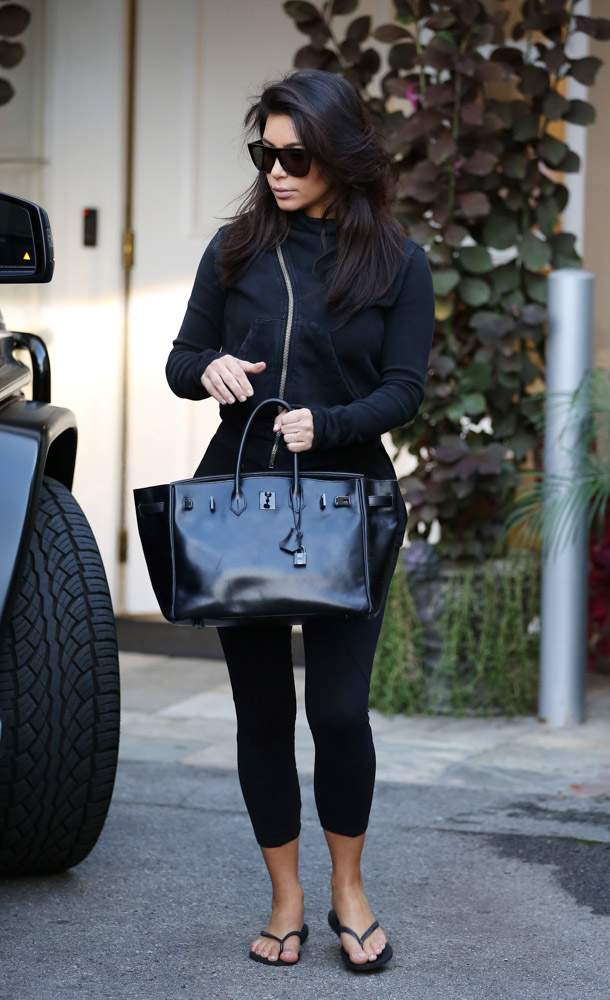 best replica birkin hermes bag - Kim Kardashian Still Loves Her Herm��s So Black Birkin - PurseBlog