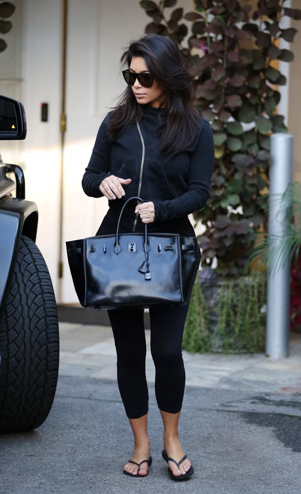 Kim Kardashian Hermes So Black Birkin Bag-1