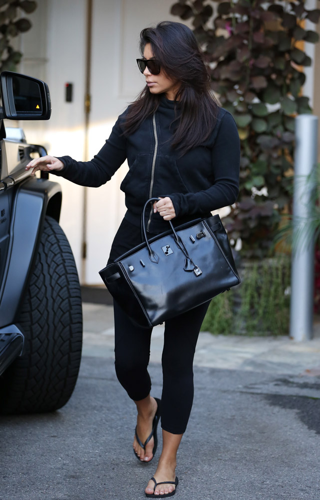 Kim Kardashian Hermes So Black Birkin Bag-3