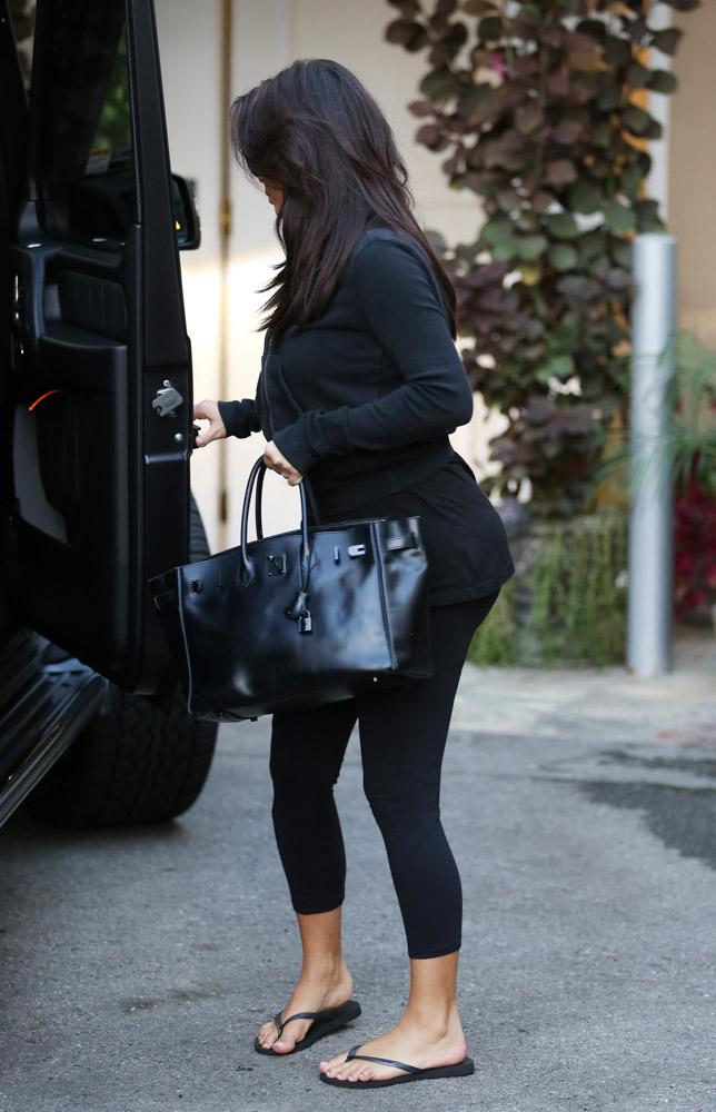 Kim Kardashian Hermes So Black Birkin Bag-4