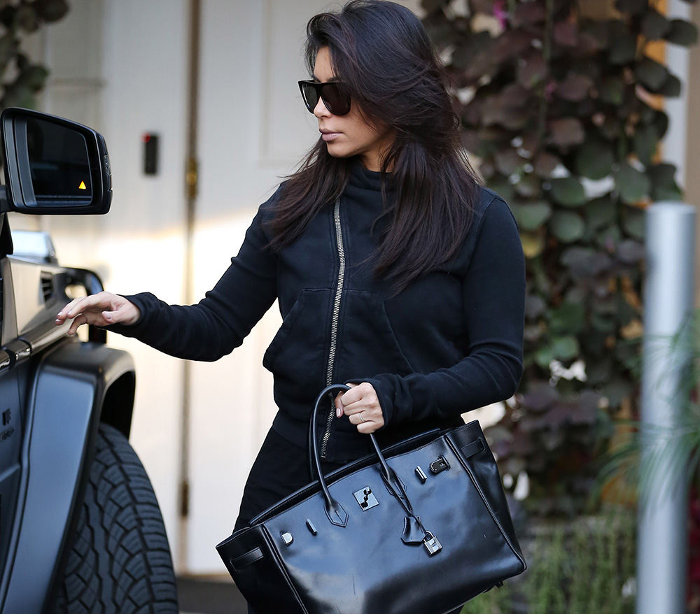 Kim Kardashian Still Loves Her Herm 232 S So Black Birkin