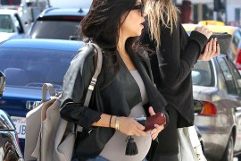 Kourtney Kardashian Goes Shopping with a Proenza Schouler Backpack