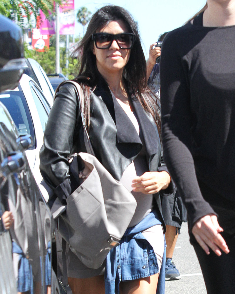 Kourtney Kardashian Proenza Schouler PS1 Backpack-4