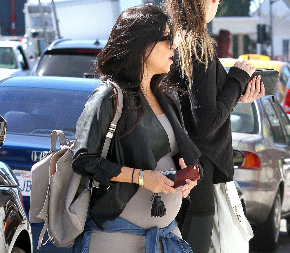 9dcad5c3c28f Kourtney Kardashian Goes Shopping with a Proenza Schouler Backpack ...