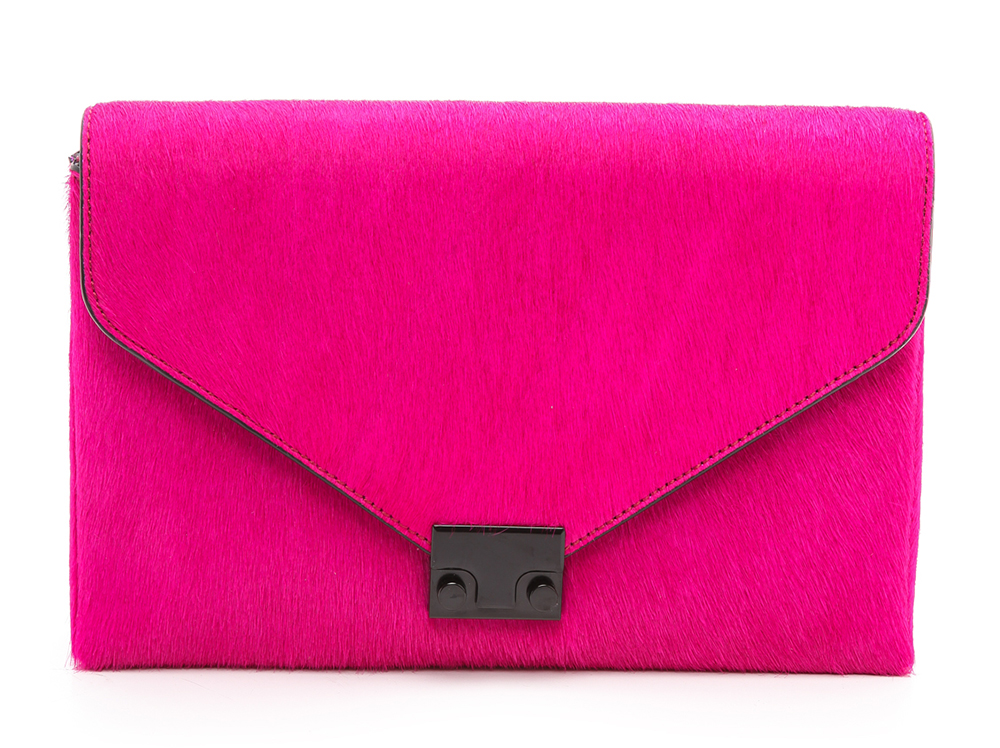 Loeffler Randall Calf Hair Lock Clutch