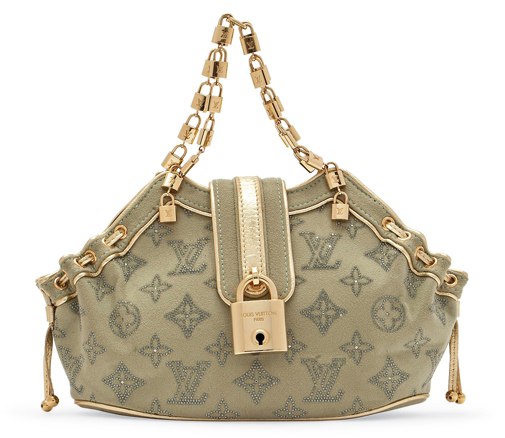 Louis Vuitton Limited Edition Suede Swarovski Strass Theda Bag