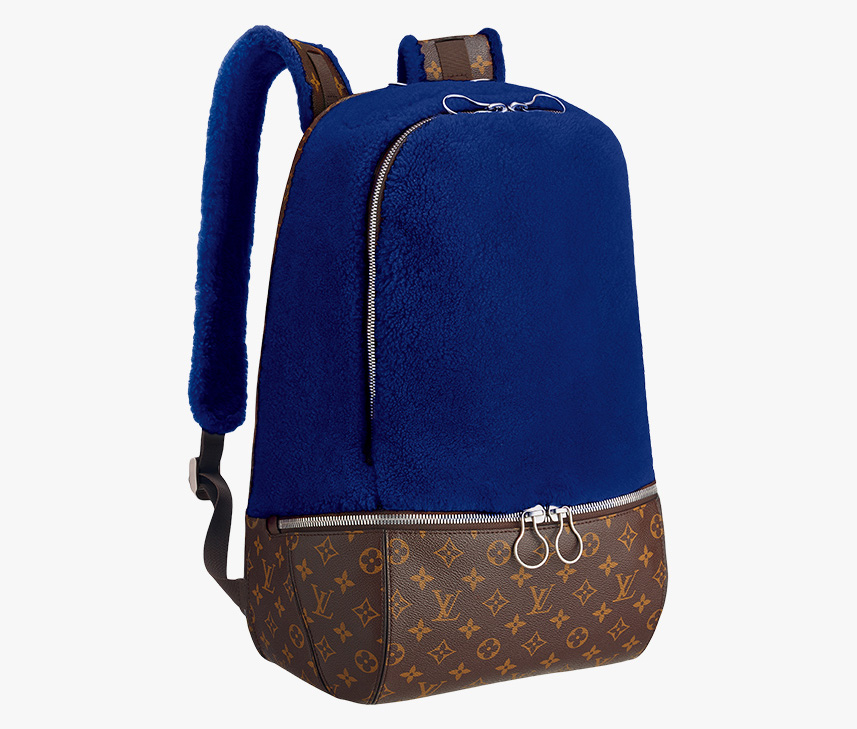 Louis Vuitton Marc Newson Fleece Backpack Blue