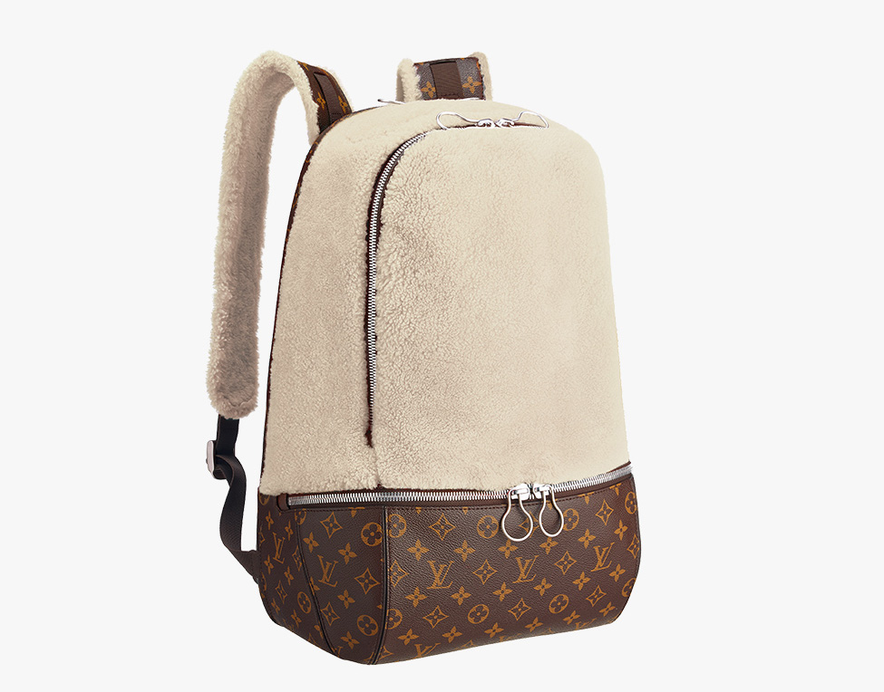 Louis Vuitton Marc Newson Fleece Backpack Ivory
