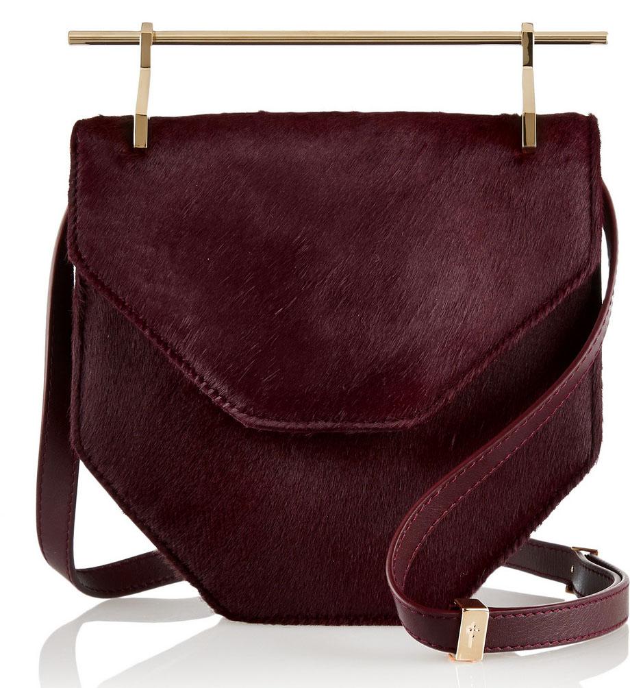 M2MALLETIER Amor Fati Calf Hair Shoulder Bag