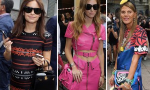 Milan Fashion Week Spring 2014 Celebrity Handbags