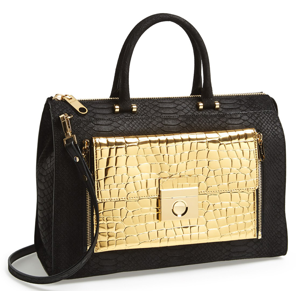 Milly Sienna Gold Tote
