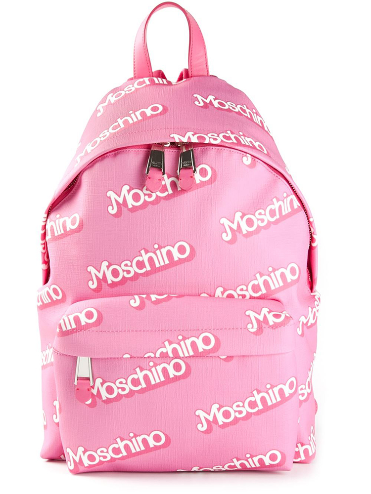 Moschino Logo Backpack Pink