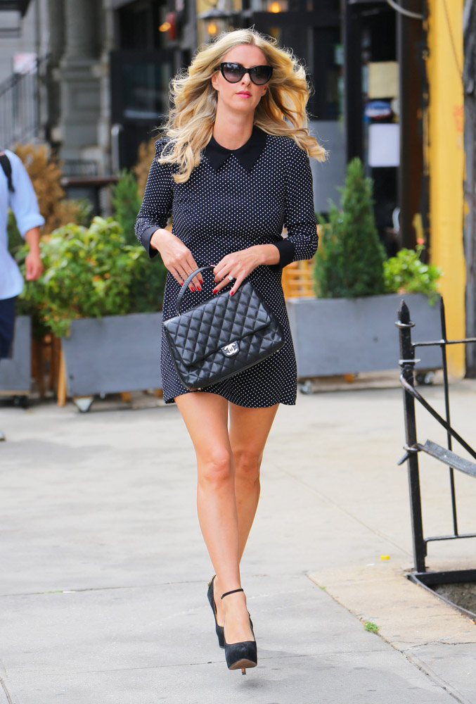 nicky hilton carries a classic chanel in nyc purseblog