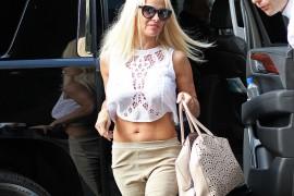 Pamela Anderson is a Somewhat Unexpected Alaïa Handbag Fan