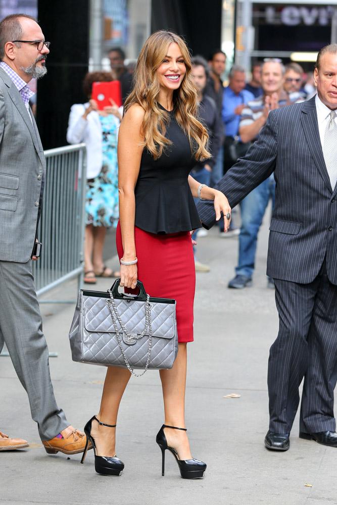 Sofia Vergara Chanel Rigid Handle Shopping Bag-1