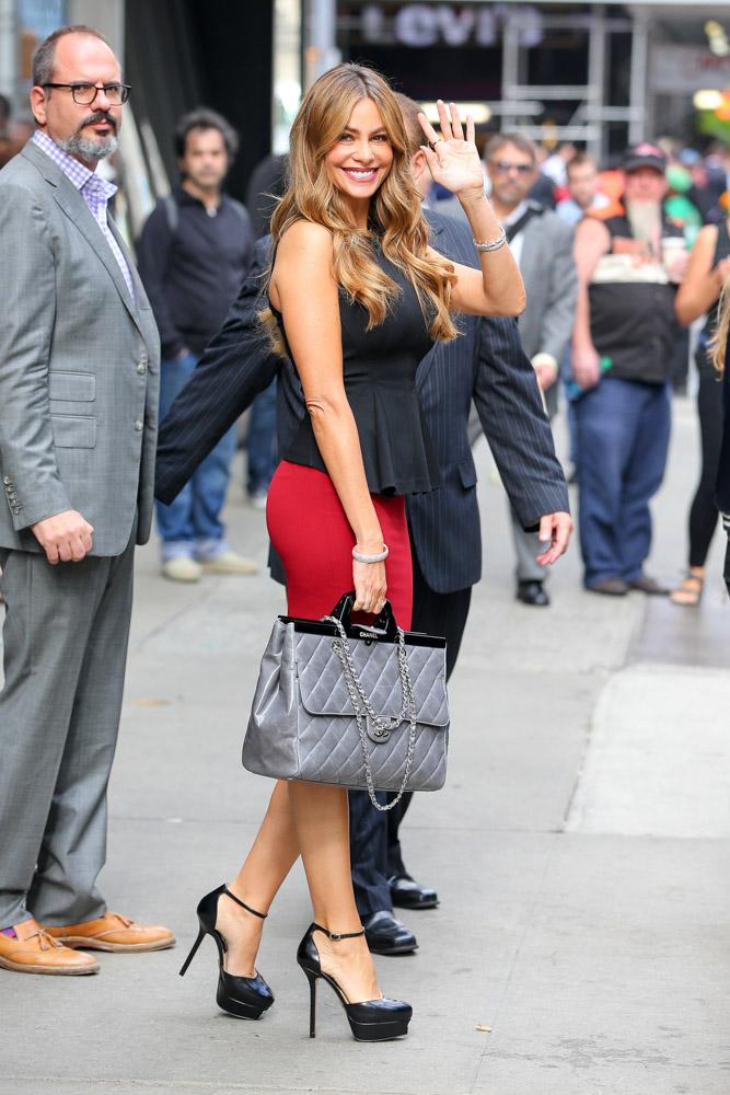 Sofia Vergara Chanel Rigid Handle Shopping Bag-3