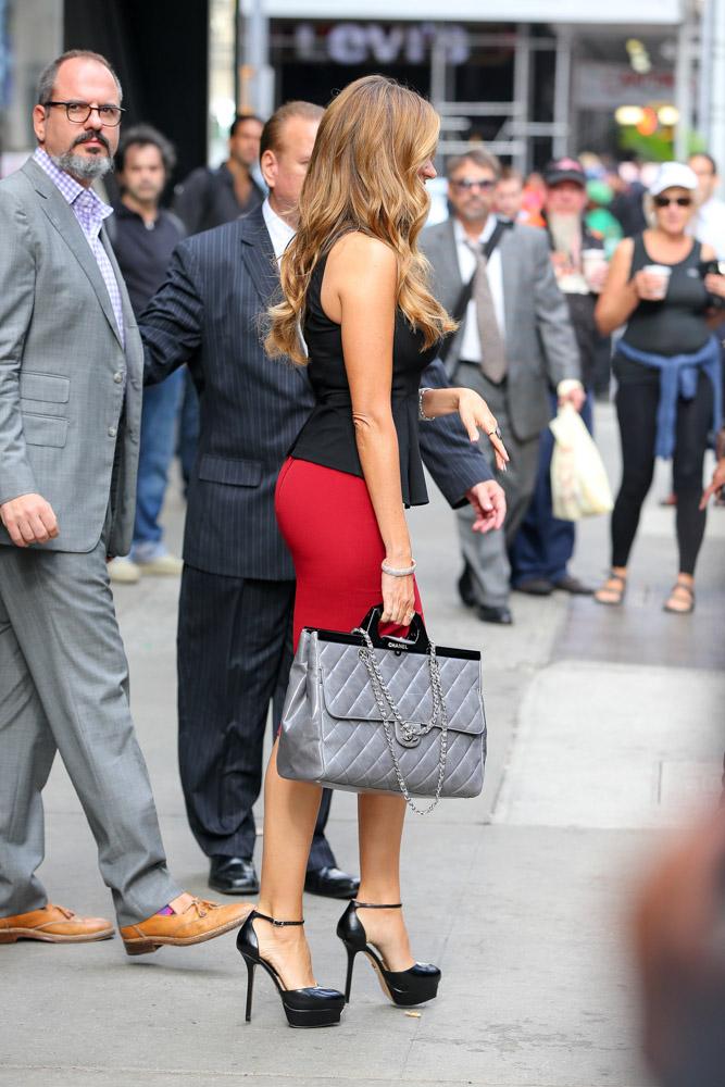 Sofia Vergara Chanel Rigid Handle Shopping Bag-4