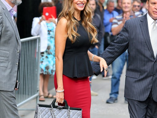 Sofia Vergara Chanel Rigid Handle Shopping Bag
