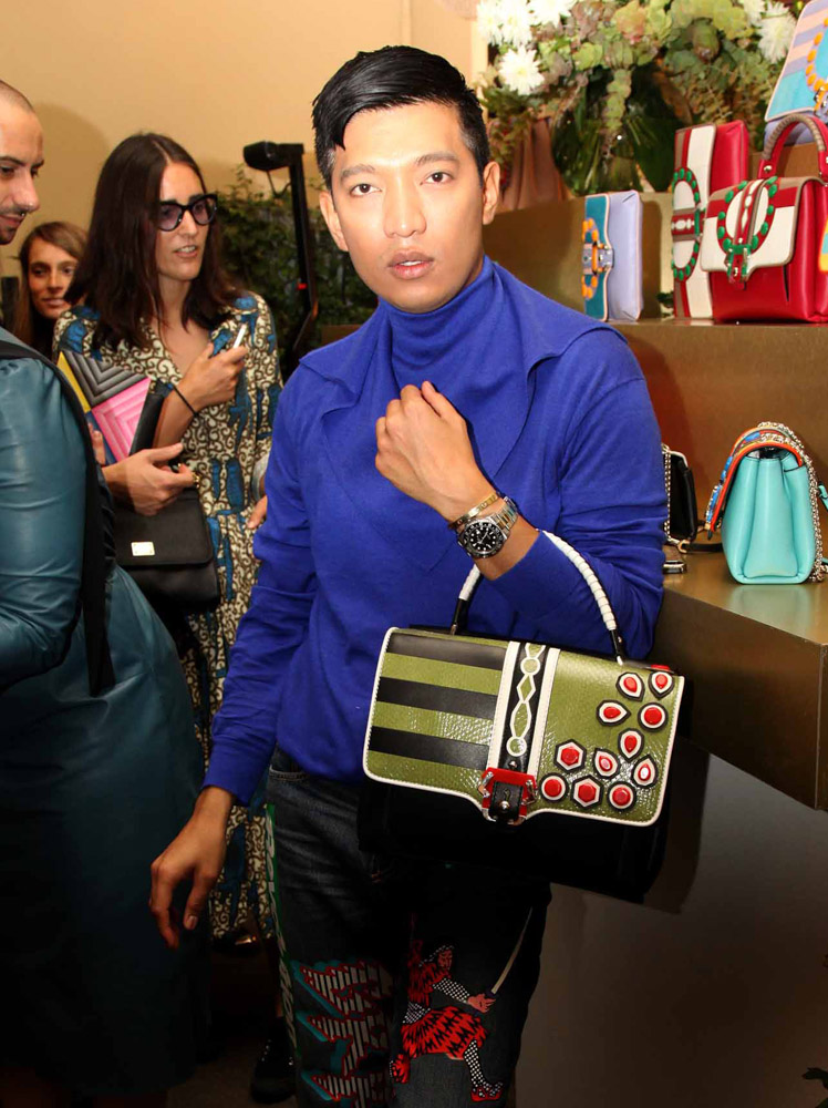 The Many Bags of Celebrities at Milan Fashion Week Spring 2015-17