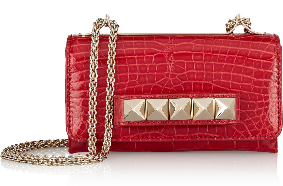 Valentino VaVaVoom Crocodile Shoulder Bag